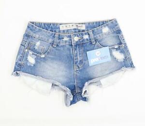 Womens-Denim-Co-Blue-Denim-Shorts-Size-6-L2