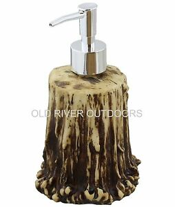 Antler Shed Lotion Soap Pump Dispenser Whitetail Deer Set Hunt Bathroom Bath Ebay