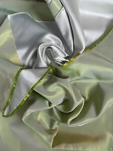 1m of high quality lime shiny satin backed iridescent taffeta fabric brand new - <span itemprop='availableAtOrFrom'>witham, Essex, United Kingdom</span> - 1m of high quality lime shiny satin backed iridescent taffeta fabric brand new - witham, Essex, United Kingdom