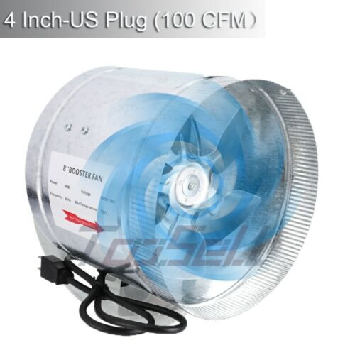 """Hydroponic 4/'/' 6/"""" 8/'/'Inline Duct Booster Fan Exhaust Blower Grow Tent Controller"""