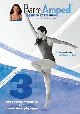 BARREAMPED BARRE AMPED CARDIO FAT BURN EXERCISE DVD SUZANNE BOWEN NEW