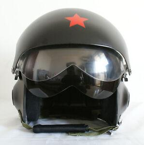 Casque-Bol-de-MOTO-Vespa-Aviation-Jet-Pilote-Combat-NOIR-MAT-2-Visiere-S-M-L-XL