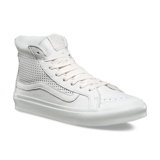 ddc300df3c99 Vans Sk8 Hi Slim Cutout Square Perf White Blanc de Blanc Shoes Mens 4.5  Women 6