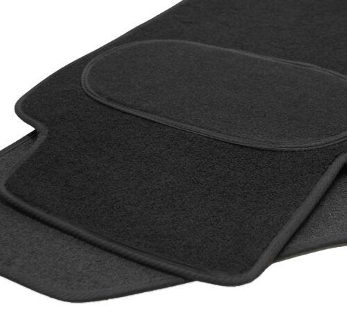 Maßgefertigte Fußmatten für Mazda 6 Velours SCHWARZ Komplett Set