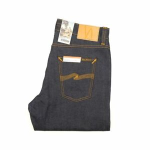 Baumwolle Blau Straight Der GüNstigste Preis Nudie Jeans Neu Ungleiche Leistung Steady Eddie Ii 113102 Dry True