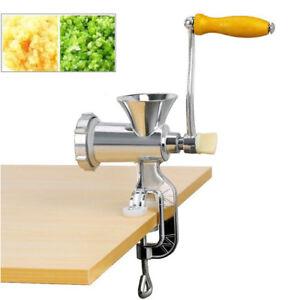 Meat Grinder Mincer Stuffer Hand Manual Sausage Filler Sauce Maker Machine Multi