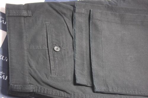 NEW DESIGNER Gardeur  38 X 31 Black Flat Front 98/% COTTON Chinos Nils $260