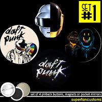 Daft Punk Set Of 4 Buttons Or Magnets Or Mirrors Pinback Pentatonix Badges 1205