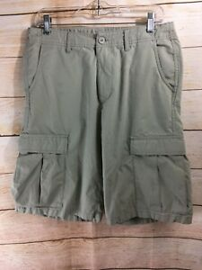 PATAGONIA-Men-039-s-All-Wear-Cargo-Shorts-Organic-Cotton-Size-31-Khaki-STAINED