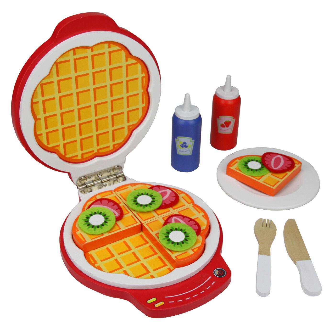 Waffeleisen Spielzeug Holz Spielset Zubehör Spielküche Kinderküche ...