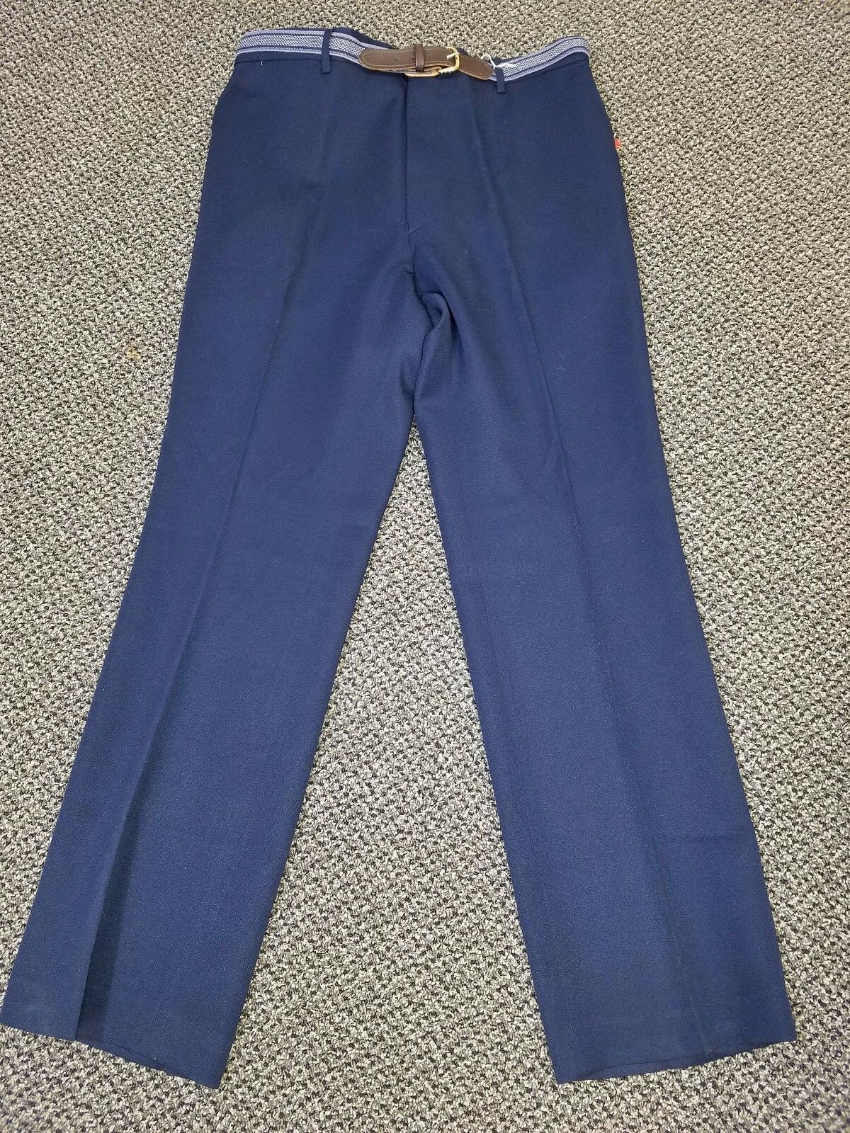 McGregor Men's bluee Dress Pants w Belt Size 38x32--NWT