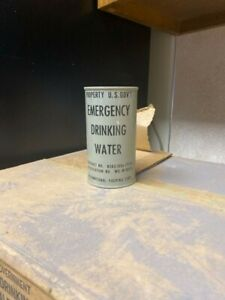 Vintage-1952-U-S-Government-Emergency-Drinking-Water-10z-Can-UNOPENED-War