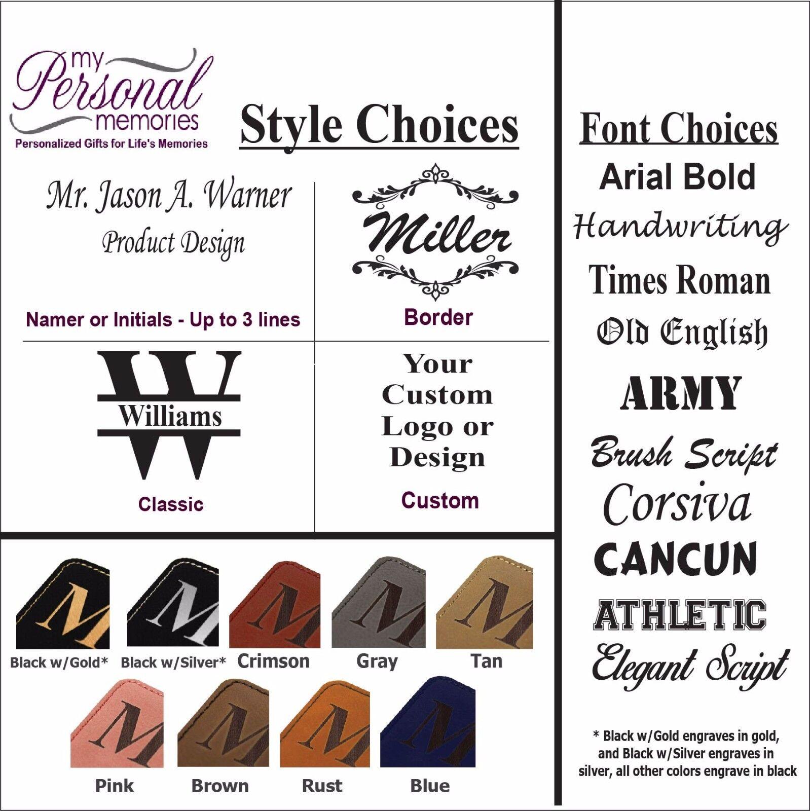 Custom Leather Business Card Case Holder Engraved Office Gift For