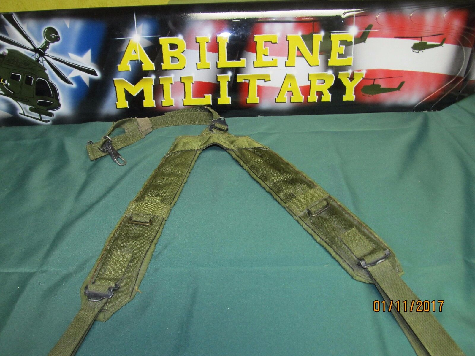 39c3ffd487529 US Military Y Suspenders OD Lc2 Load Bearing Lbe Shoulder Harness