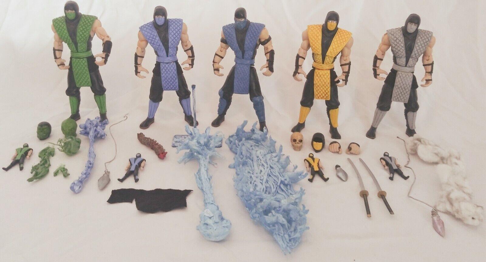 Mortal Kombat Retro 6 Inch Action Figure 4pack Scorpion Reptile