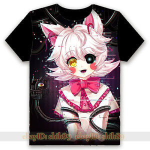 game five nights at freddy s mangle anime black t shirt unisex tee