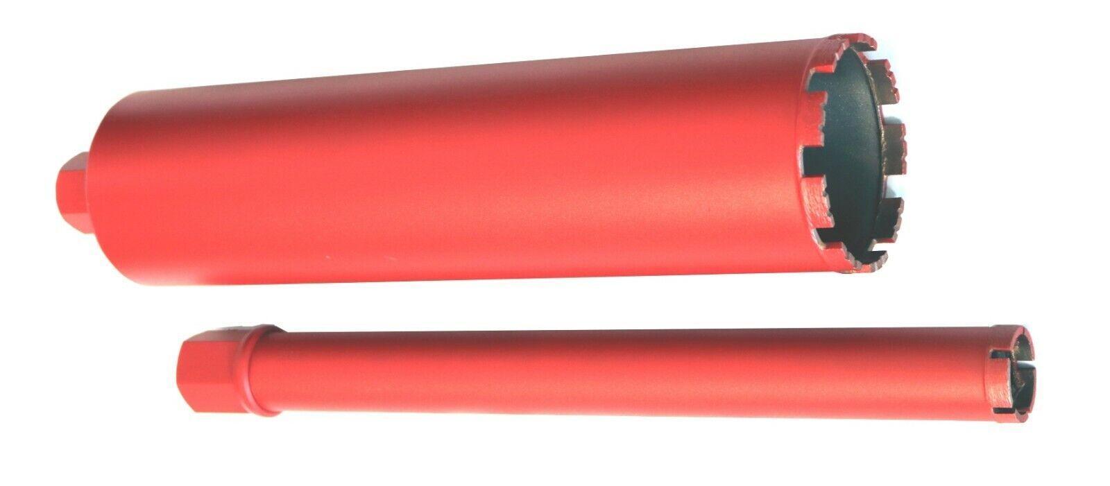 Trocken Ø 26-300 mm NL=400 mm Diamant-Bohrkrone Dosenbohrer Kernbohrkrone Nass
