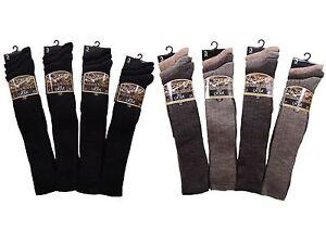 12-Mens-Lambs-Wool-Blend-LYCRA-Traditional-LONG-HOSE-Ribbed-Socks-UK-6-11