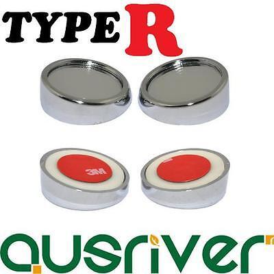 "Genuine Type R TR-215 2/"" 5cm Black External Blind Spot Spinnable Mirror Set of 2"