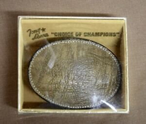 Vintage Tony Lama leather Belt Buckle