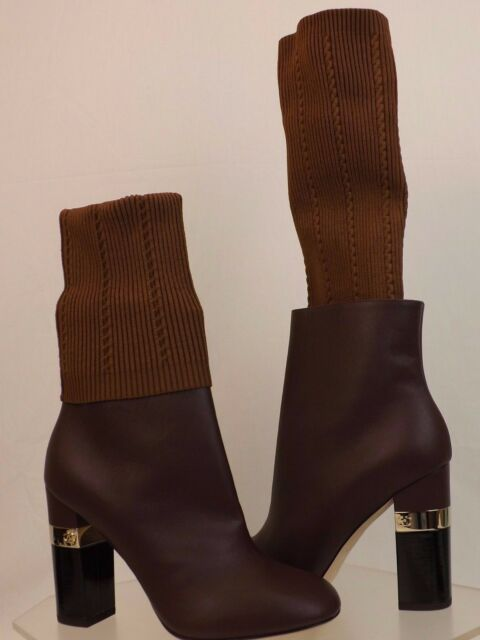 shades of new style & luxury modern style NIB CHANEL G31268 BURGUNDY KANGAROO LEATHER LOGO SOCK ANKLE BOOTS 39 $1550