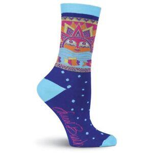 Laurel Burch K.Bell Blue Light Blue Sun Fish Sun Fish Ladies Pair Socks New