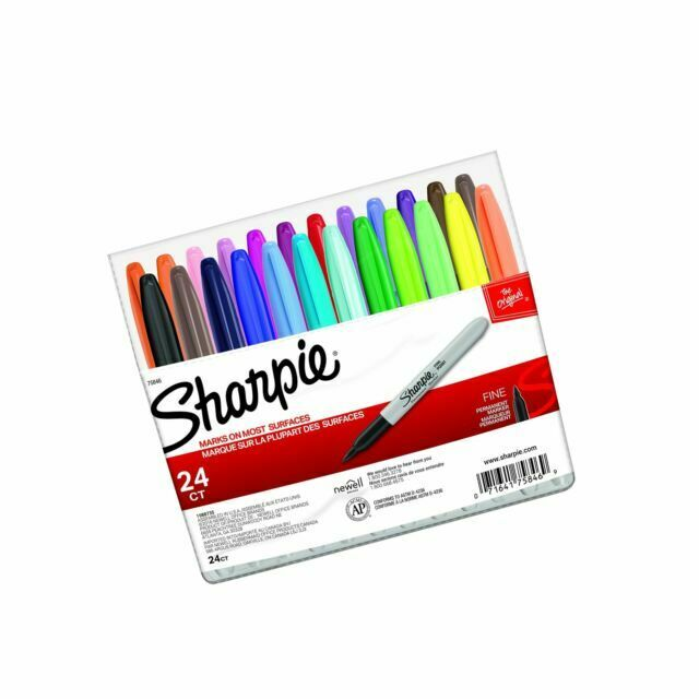 24-Pack Assorted Colors Sharpie 75846 Fine Point Permanent Marker