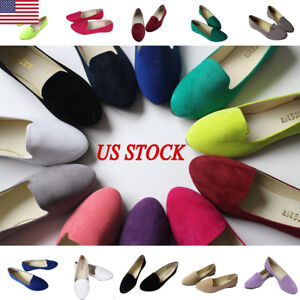 Womens-Ladies-Slip-On-Flat-Shoe-Pumps-Ballet-Dolly-Casual-Ballerina-Shoes-Size