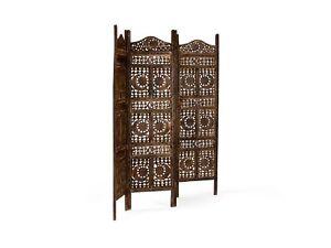 Paravent Raumteiler Trennwand Holz Mango 200x180 Spanische Wand Neu