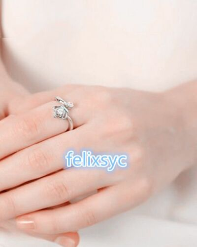 Imperial crown open Ring 925 Sterling Silver Wedding Womens Jewellery Love gifts