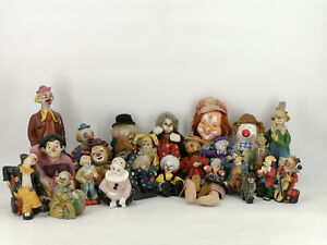 24-Alte-Puppen-Konvolut-Paket-Puppe-Clown-Deko-Clowns-fuer-Sammler-Sammlung
