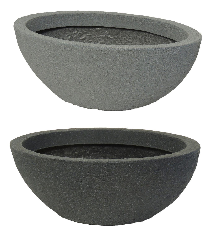 Pflanzschale Stone oval de plástico piedra óptica tiesto para plantas