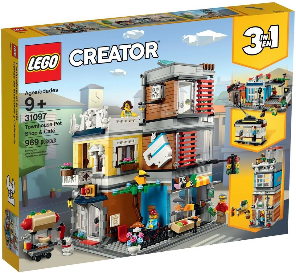 Lego Creator, 31097 Townhouse Pet Shop & Café UÅBNET
