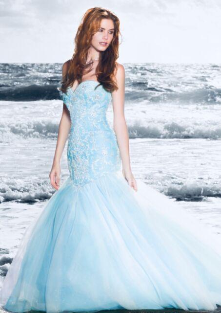 Disney Wedding Dress.Wedding Dress Alfred Angelo Ariel Disney Princess Style 249 Size 10 Blue