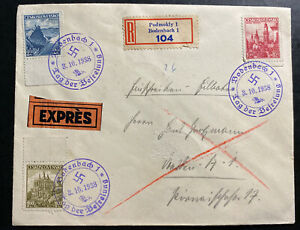 1948 Bodenbach Sudetenland Czechoslovakia Airmail Cover Provisional cancel