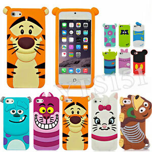 Cute-3D-Cartoon-Animal-Silicone-Soft-Case-Cover-For-Apple-iPhone-4-4s-5-5s-6