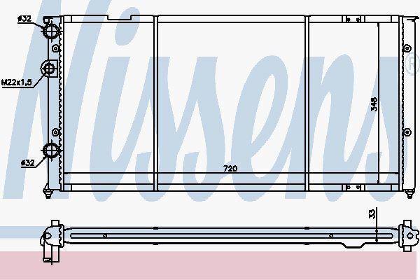 Nissens 652491 Radiator fit VW PASSAT B3 VR6 AC  91