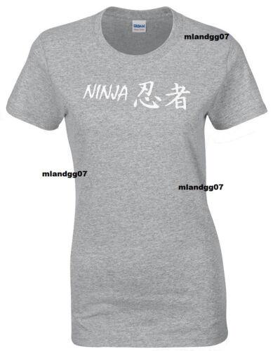 Adult Sizes Womens T-Shirt Japan Ninja Japanese Fighting Martial Art SIZES S-XL