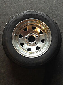 13-034-Spare-Wheel-Galvanised-New-Tyre-Rim-Suits-Boat-Box-and-Car-Trailer
