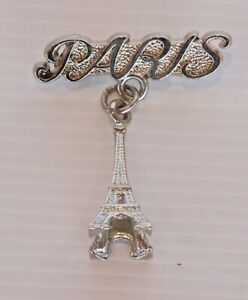 VINTAGE-PARIS-FRANCE-EIFFEL-TOWER-SOUVENIR-METAL-BADGE-LAPEL-COAT-BROOCH-HAT-PIN