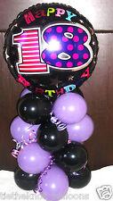 "AGE 18 18TH BIRTHDAY 18"" FOIL BALLOON TABLE DISPLAY DECORATION AIR FILL B & L"