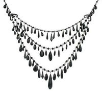 Joan Rivers 3 Row Sparkling Teardrops 26 Necklace W/3 Extender - $75 - Qvc
