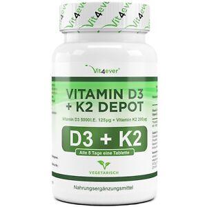 365-Tabletten-Vitamin-D3-5000-IU-amp-Vitamin-K2-200mcg-MK-7-Menachinon-7-D3-I-E