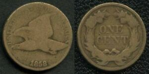 Rare-1858-Small-Letters-Flying-Eagle-Cent-Penny-G-NR