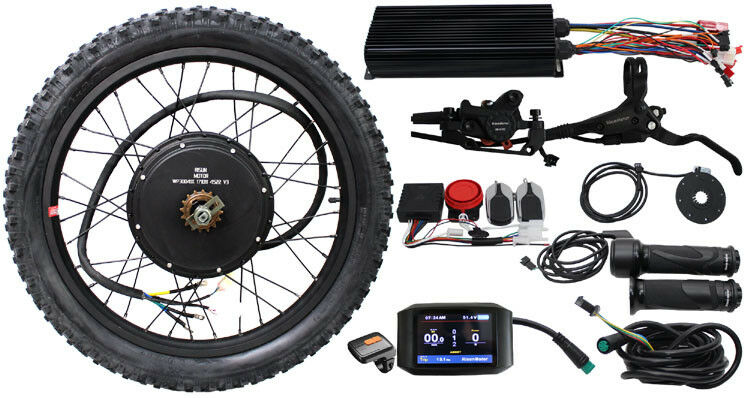 48V 2000W High Power Intelligent Controller Conversion Kits Ebike Colour Display