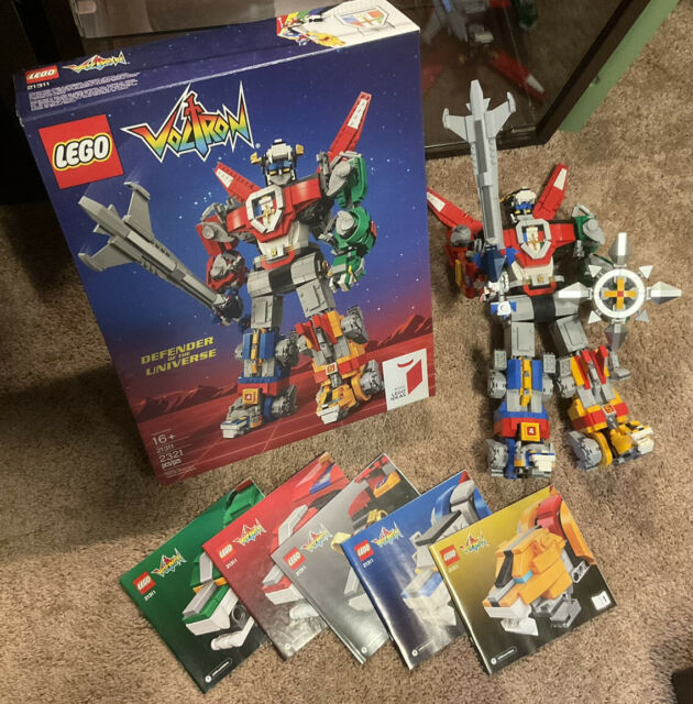 LEGO Ideas Voltron Defender of the Universe (21311) 100% COMPLETE W/BOX RETIRED!