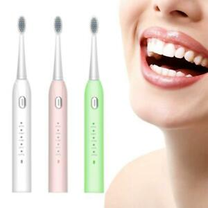 Sonic-Ultrasonic-Electric-Toothbrush-Rechargeable-Cleaning-Mode-Brush-Head