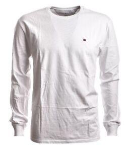 TOMMY-Hilfiger-Slim-Fit-T-Shirt-Langarm-Rundhals-weiss-GR-M-Neu
