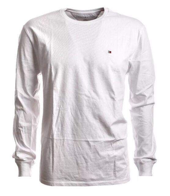 TOMMY Hilfiger Slim Fit T-Shirt Langarm Rundhals weiß GR. S
