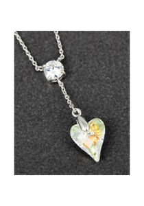 Genuine-Swarovski-Necklace-Clear-Heart-Pendant-By-Equilibrium-Jewellery